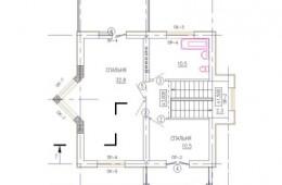 Коттедж 123 кв.м с черновой отделкой