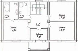 Коттедж 190 кв.м с черновой отделкой